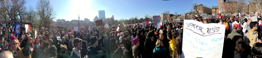 An impressive number of people attended the Women's March in Boston.